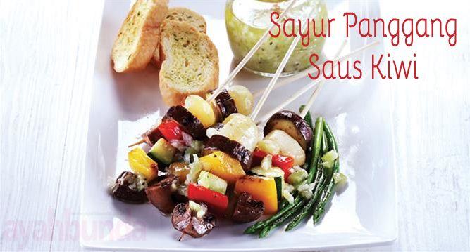 Sayur Panggang Saus Kiwi :: Grilled Vegetable with Kiwi Sauce :: Klik link di atas untuk mengetahui resep sayur panggang saus kiwi