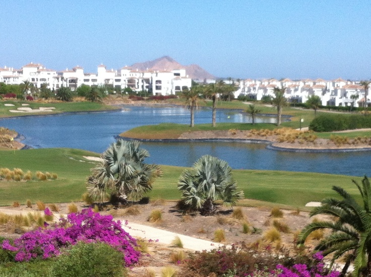 The Stunning View from my Spanish apartment. To rent for sunshine or Golf Holiday visit http://www.murciagolfandleisure.org
