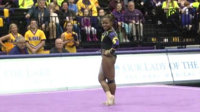 LSU #gymnast nails her floor routine #LSU