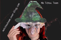 Masque de sorcière et son nez crochu |             Masque de sorcière et son nez crochu pour Halloween