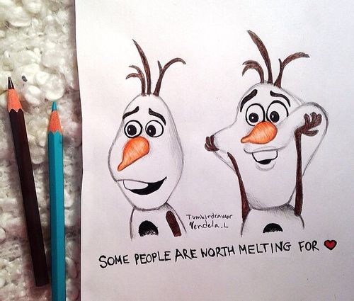 My olaf drawing! ⛄️Find more on my instagram Tumblrdrawer