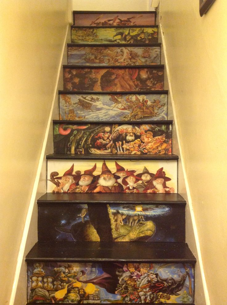 Terry Pratchett stairs ( to the library I want) Best home diy idea EVER
