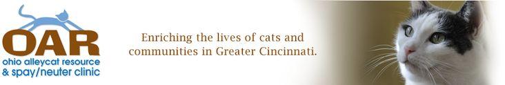 OAR - Ohio Alleycat Resource Spay/Neuter Clinic - low cost spay/neuter, TNR program, and no-kill shelter.