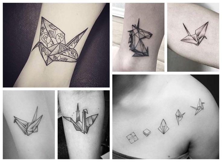 tatuajes de origami japoneses