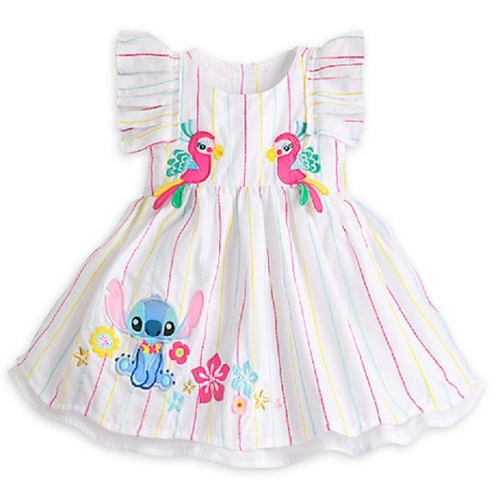 4cf6d1174 Details about DISNEY STORE SUPER SWEET STITCH WOVEN DRESS FOR BABY ...