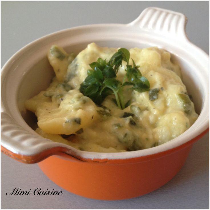 Pommes de terre Courgettes au gorgonzola Recette Cookeo de chez Moulinex. Retrouvez pleins de recettes faites au Cookeo sur mon site Mimi Cuisine