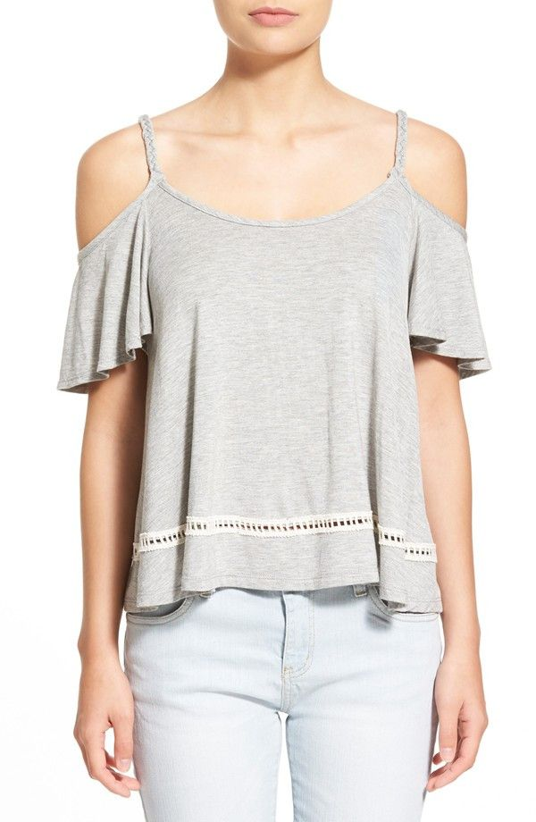Relaxed Cold Shoulder Top