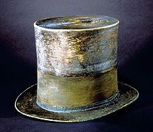 The top hat Lincoln wore on the night of the assassination