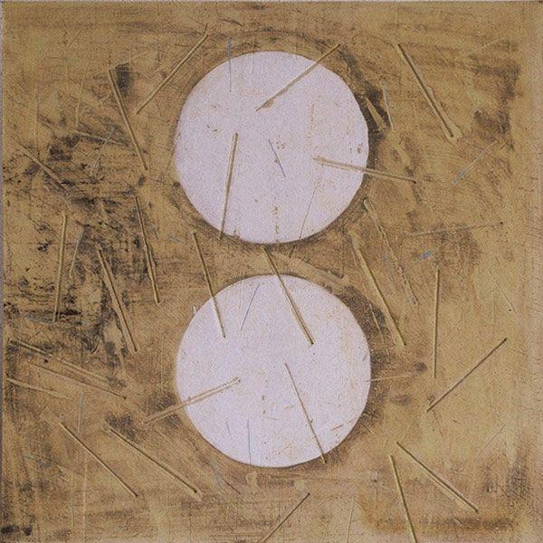 Anna Klimešová, tile (no name), 2000, 45 x 45 cm #clay #sculpture #tile