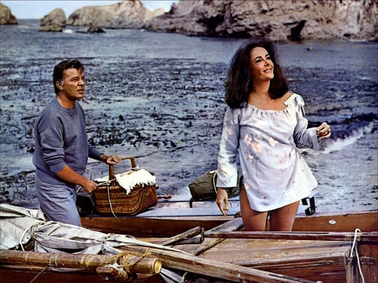 Richard Burton and Elizabeth Taylor in The Sandpiper directed by Vincente Minnelli, 1965