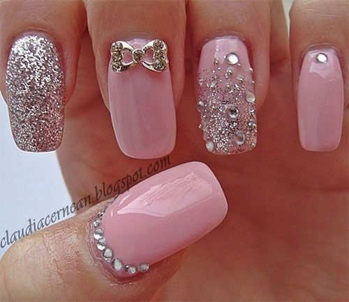 257 best nail art images on pinterest nail arts nail scissors rose quartz nail designs for 2016 prinsesfo Image collections