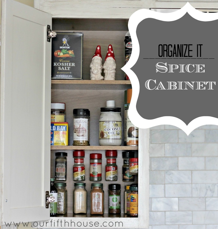 Organize It: The Spice Cabinet