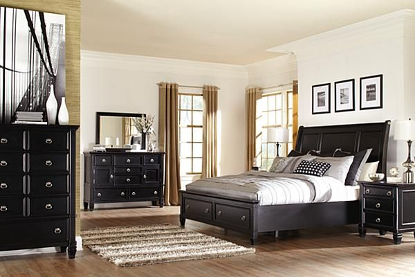 Ashley Furniture Prentice Bedroom Set Black - HOME DELIGHTFUL