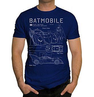 Changes Batmobile Blue Print Tee