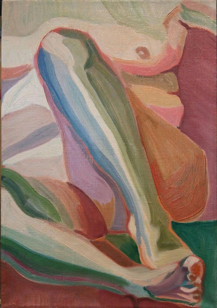 Aleksandra Badurska, oil on canvas, 2016, NUDE