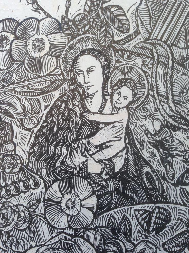 the Madonna rose..detail