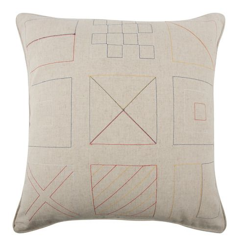 'Flags Embroidered Pillow by Thomaspaul. @2Modern'