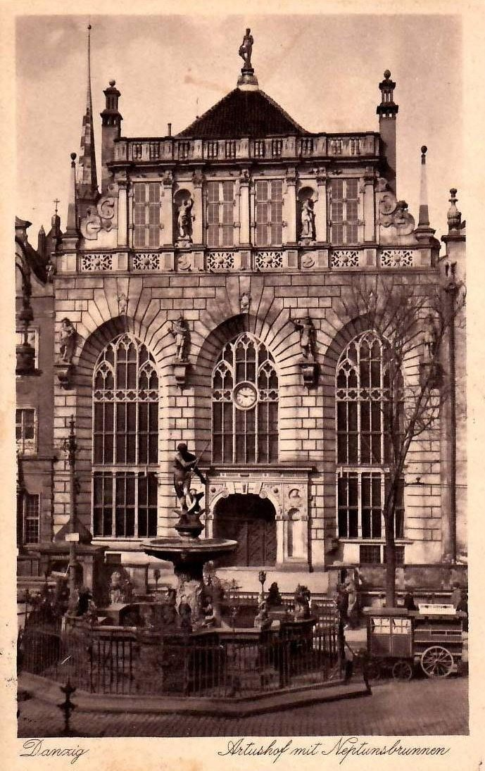 Dwór Artusa - Muzeum Historyczne Miasta Gdańska (Artushof), Gdańsk - 1933 rok, stare zdjęcia