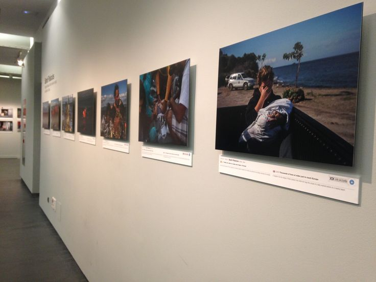Photos of refugees up on display in the museum