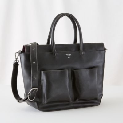 love this Matt and Nat Diaper Bag (Black)    The Land of Nod...looks classy #bigbabybasketsweeps