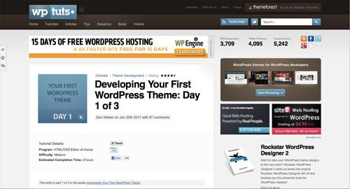 Developing Your First WordPress Theme