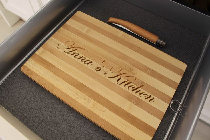 Personalized Wood Cutting Bread Cheese Chopping Board Engraved and Monogrammed…
