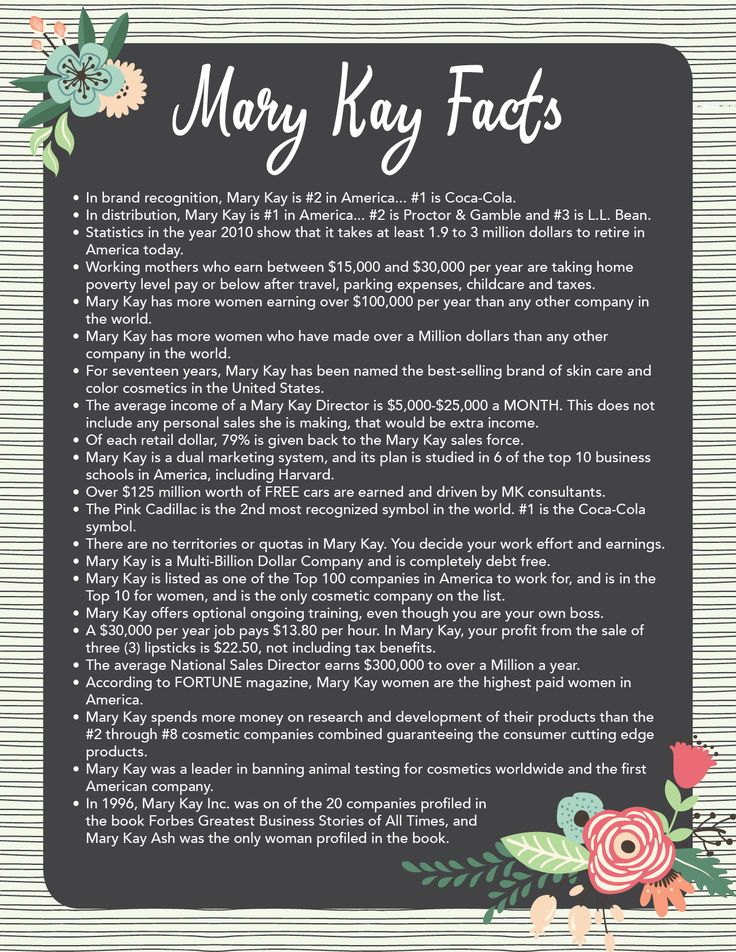 mary kay facts for husbands - Google Search