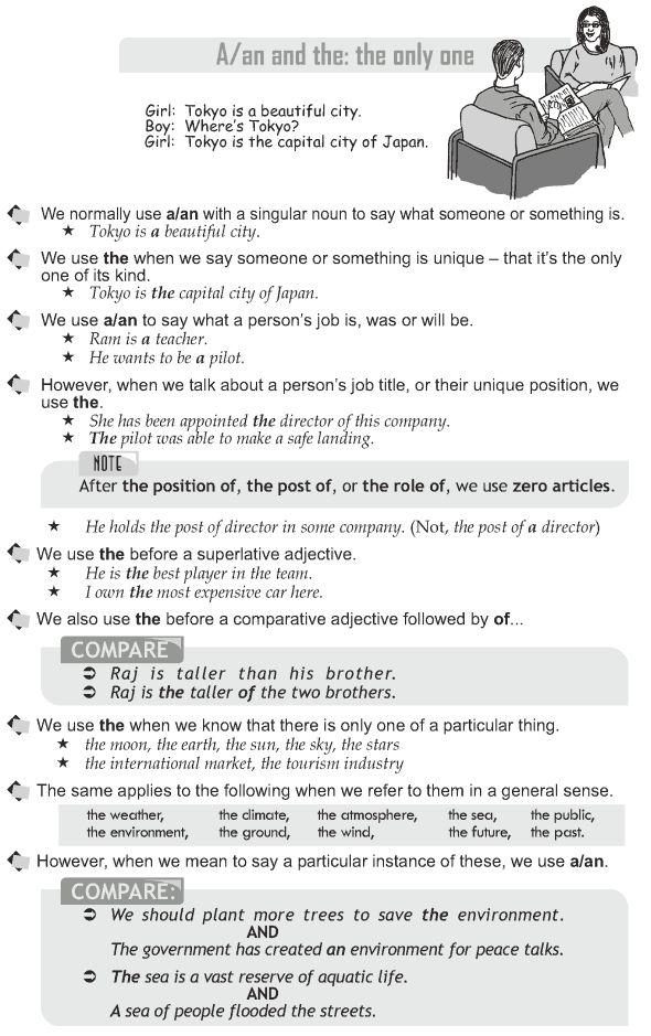 Grade 10 Grammar Lesson 27 A, an and the the only one (1) ESL - pilot resume examples