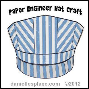 Paper Engineer's Hat craft www.daniellesplace.com