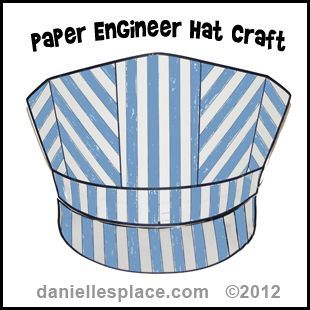 paper engineer's hat craft for kids from www.daniellesplace.com