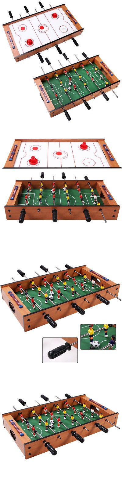 Foosball 36276: 2 In 1 Table Game Air Hockey Foosball Table Christmas Gift  For Kids