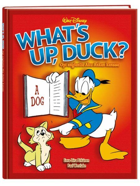 What's up, Duck! Opi englantia ankkalinnalaisten seurassa! Puolet kirjasta on englanninkielistä sarjakuvaa, ja lopuilla sivuilla sarjakuvasankarit kertovat englannin kielen hienouksista hauskasti, tehokkaasti ja viihdyttävästi. Mukana sanastot sekä tehtäviä.