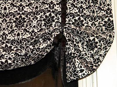 DIY tie up curtain- tutorial by ME :))