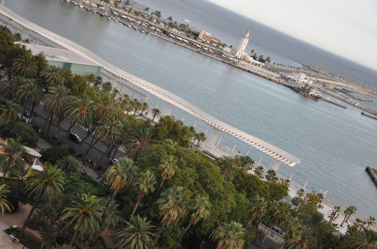 Malaga from the roof