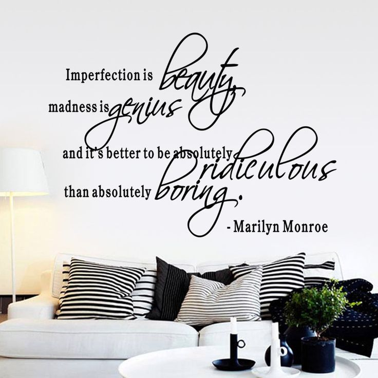 Imperfection Is Beauty Marilyn Monroe Wall Sticker Decal