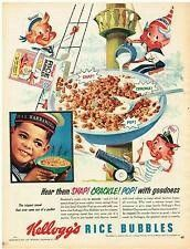 Kellogg's Rice Bubbles ~ Australia 1950s.