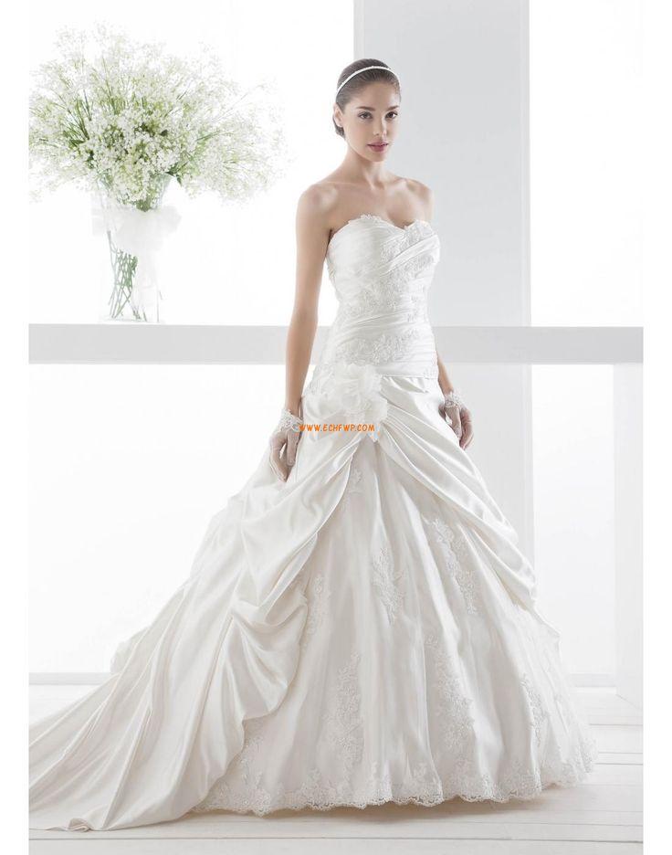 A-line Col en cœur Dentelle Robes de mariée 2014
