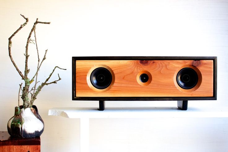 Speakerbox, handmade in California from reclaimed Redwood timber ✽ By @Jared Randall Kirby