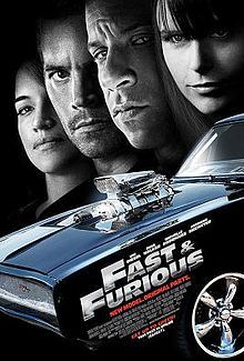 Fast and Furious with fast cars and vin diesel