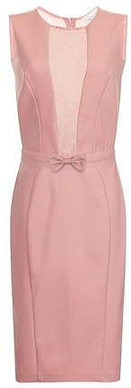 Womens dusty pink pink lace insert dress from Dorothy Perkins - £50 at ClothingByColour.com