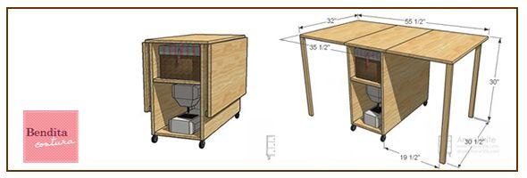 Muebles para maquinas de coser google search costura for Muebles de costura