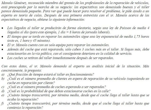 Investigación de Operaciones II: TEORIA DE LINEAS DE ESPERA II
