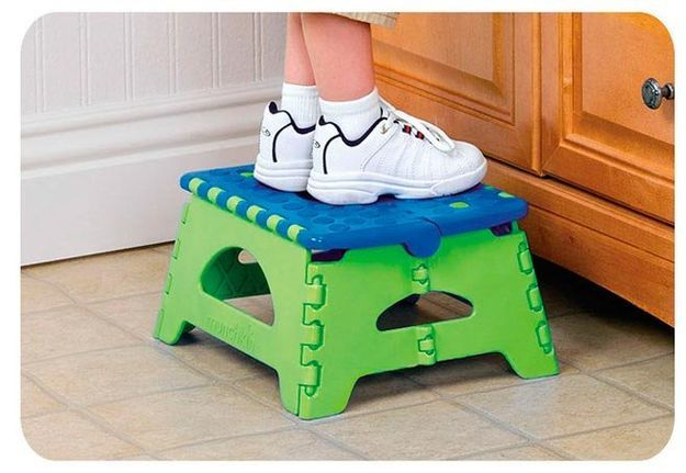 I'm learning all about Munchkin Folding Step Stool Blue at @Influenster!