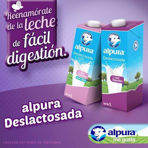 Si te alejaste de la leche porque te inflamabas, reenamórate de ella con alpura Deslactosada. ¡La que te quiere, la de fácil digestión! #Leche #Deslactosada #Milk #AlpuraDeslactosada #ReenamorateConAlpura