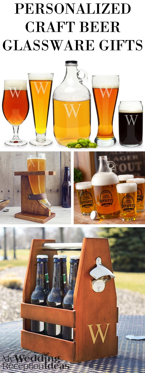Put a smile on the face of your favorite craft brew enthusiast this Christmas with a gift that shares their passion for brewing their own beer,  making hard cider or homemade wine. Unique personalized gifts like a personalized wood beer bottle carrier will help them show off their latest batch of brew. These craft beer and other home bar glassware gifts can be ordered at https://myweddingreceptionideas.com/personalized-glass-bar-gifts.asp