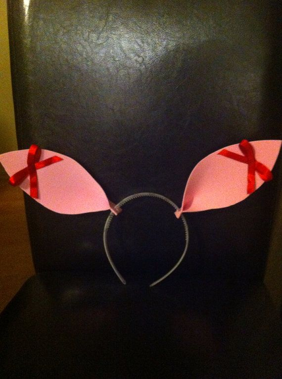 Olivia the Pig Ears headband by TahliBooh on Etsy