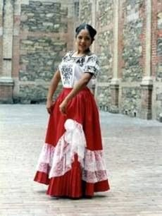 Traje típico de Querétaro,Mexico