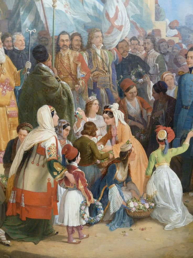 https://flic.kr/p/9zizA9 | Peter von Hess - The entry of king Othon of Greece in Athens, detail 4 (1839)