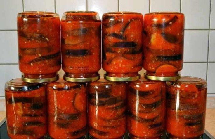 Vinete conservate în adjica (sos picant de roșii) — o garnitură excelentă pentru aproape orice fel de mâncare! - Retete-Usoare.eu
