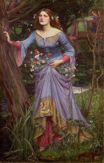 'Ophelia' (Blue Dress) John William Waterhouse, 1905 | Flickr - Photo Sharing!
